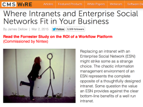 Where Intranets and Enterprise Social Networks Fit in Your Business