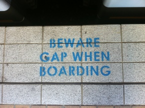 Beware Gap When Boarding
